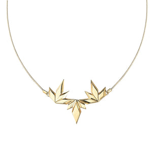Element, Dancing sparks necklace 18 carat gold plated silver