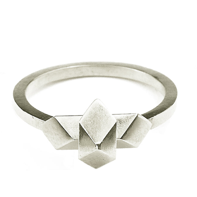 Element, equilibrium ring solid silver
