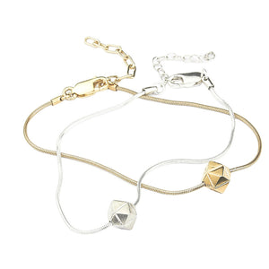 Element, fine meteorite bracelet gold or silver