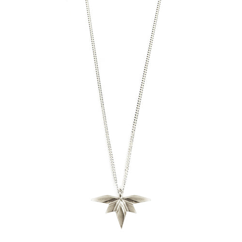 Element, flying silver spark necklace