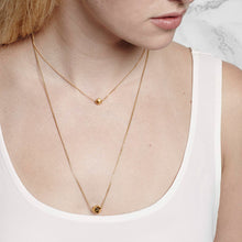 Element, short meteorite necklace, gold