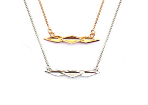 Oblique Mountain Range Necklace