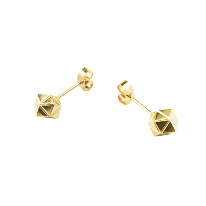 Element, tiny meteorite studs silver or gold