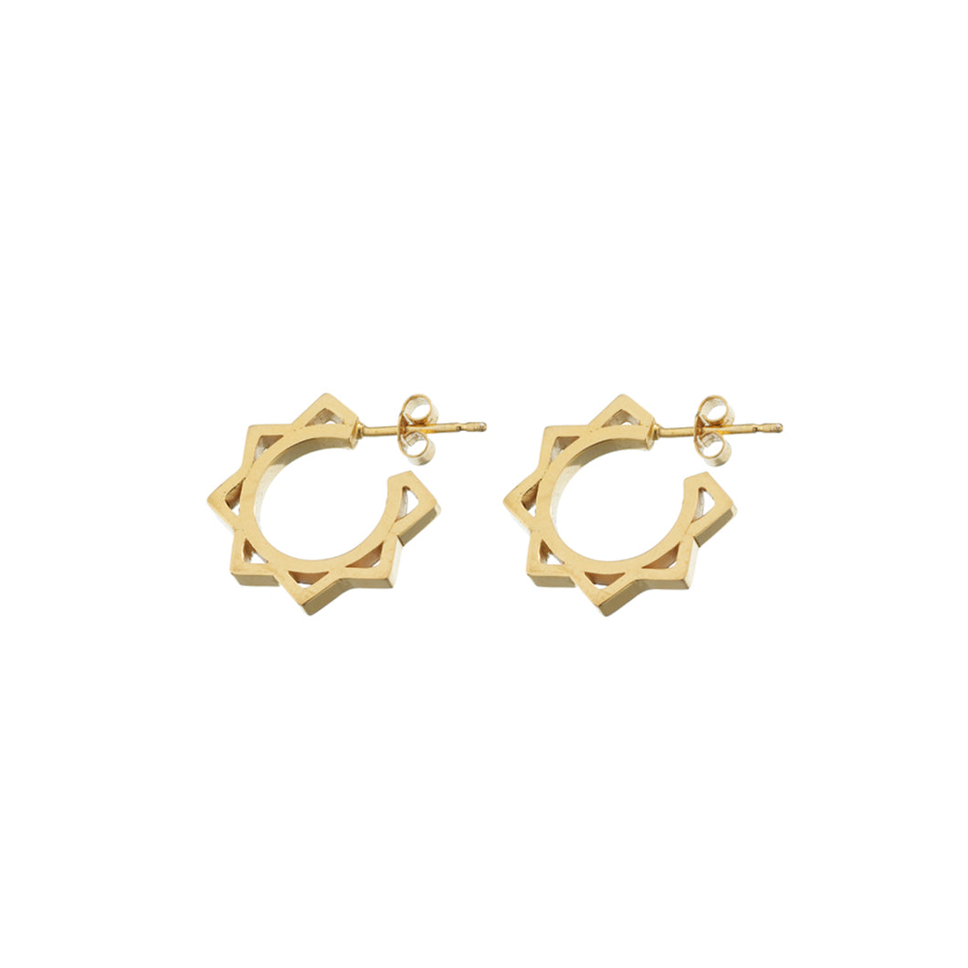 Constellations, Tiny Star Hoop Earrings