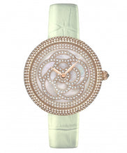 Camelia Pearl Swarovski jewelry watch [Mint color]