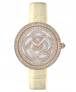 Camelia Pearl Swarovski jewelry watch [Yellow color]