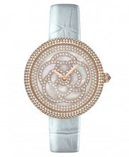 Camelia Pearl Swarovski jewelry watch [Blue color]