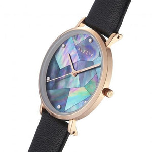 Lily collection Black x Rose Gold Dark Grey strap
