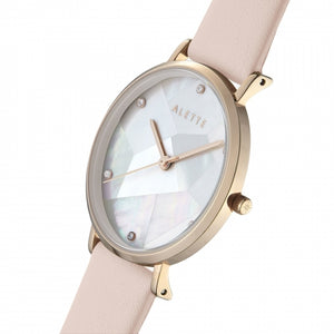 Lily collection White x Rose Gold Pink strap
