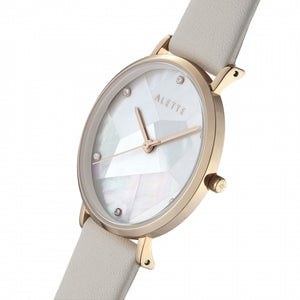 Lily collection White x Rose Gold Grey strap
