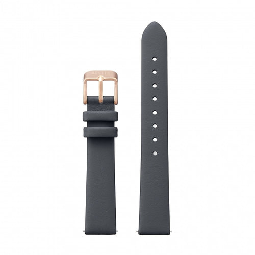 Watchstrap Lily collection Dark grey x Rose Gold