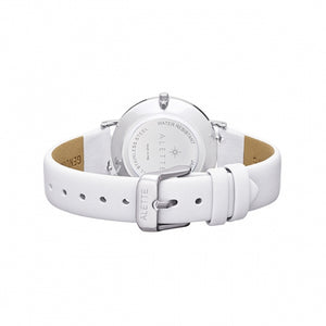 Lily collection White x Silver White strap