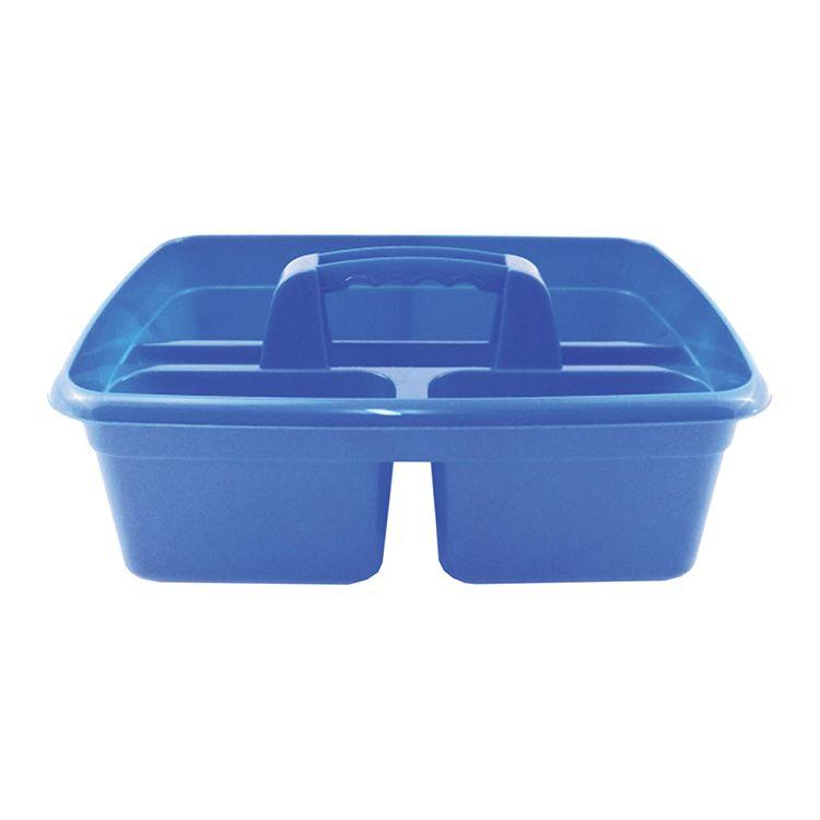 300mm x 375mm  3 Compartment Tack Room Tidy Tray - Blue