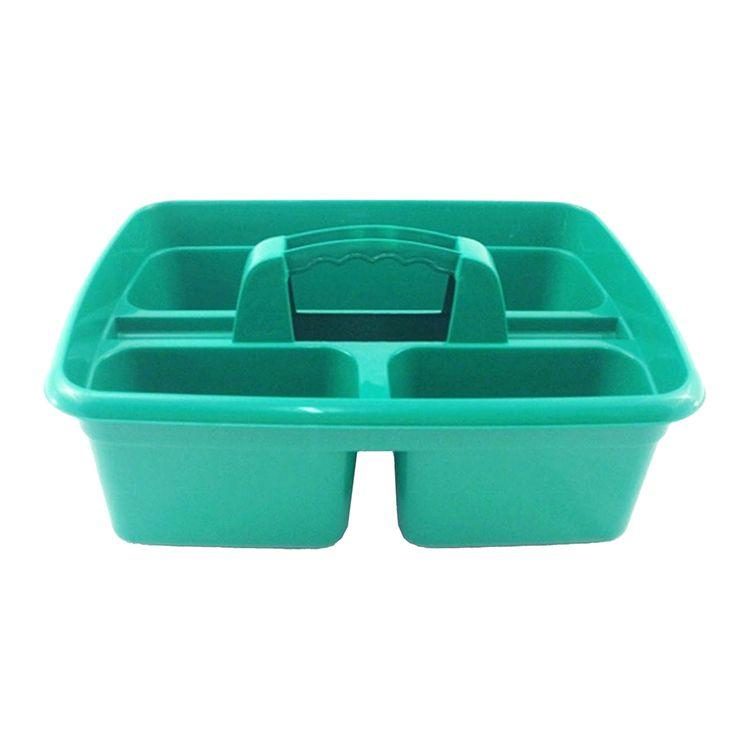 300mm x 375mm  3 Compartment Tack Room Tidy Tray - Green