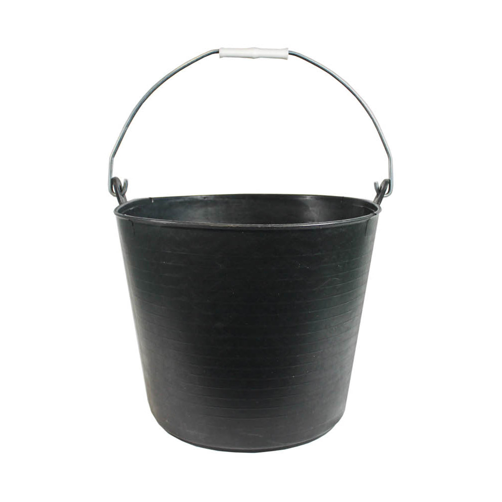 5.7 Gallon (26Ltr) Flexitub with Metal Handle - Black