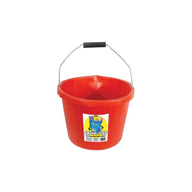 3 Gallon (15 Ltr) Crush-Tuff Heavy Duty Bucket - Red