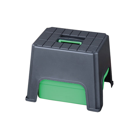 590mm x 490mm Step Up Tool Box - Black/Green