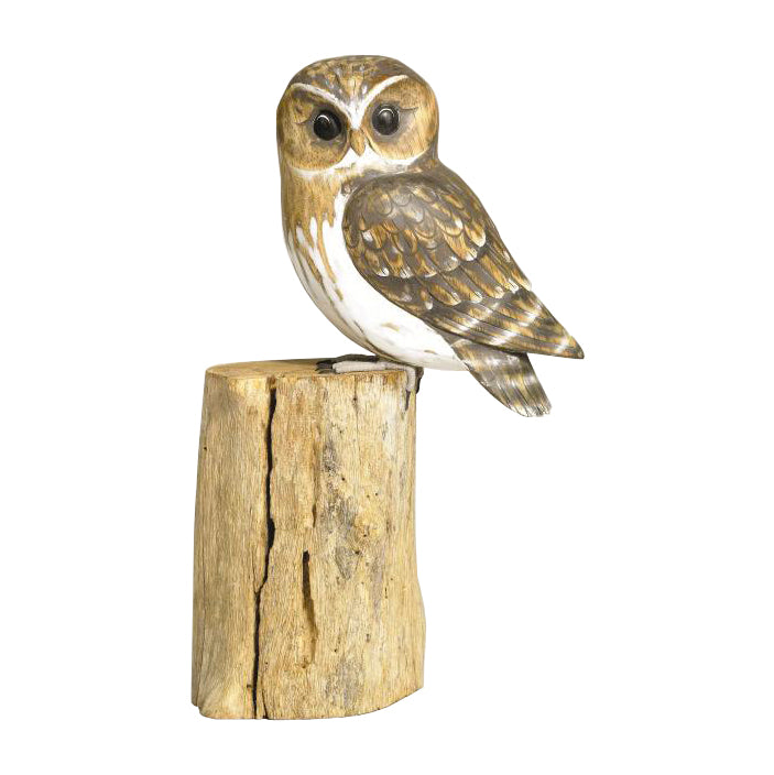 Wooden Little Owl