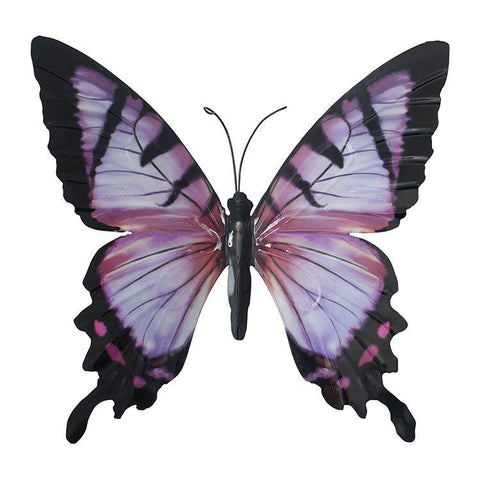 Large Metal Butterfly in Pink and Black