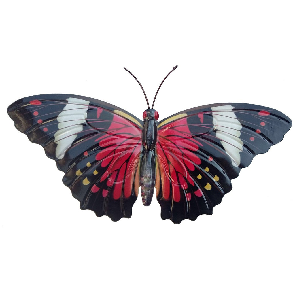 Large Metal Butterfly - Red