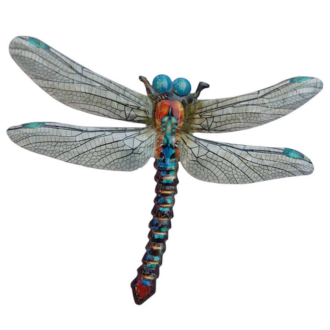 Large Metal Dragonfly - Blue