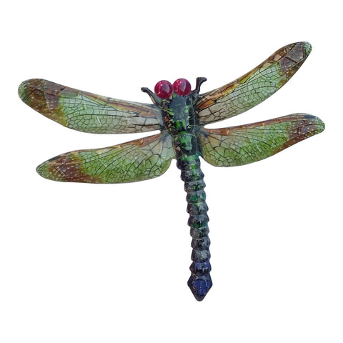Large Metal Dragonfly - Green