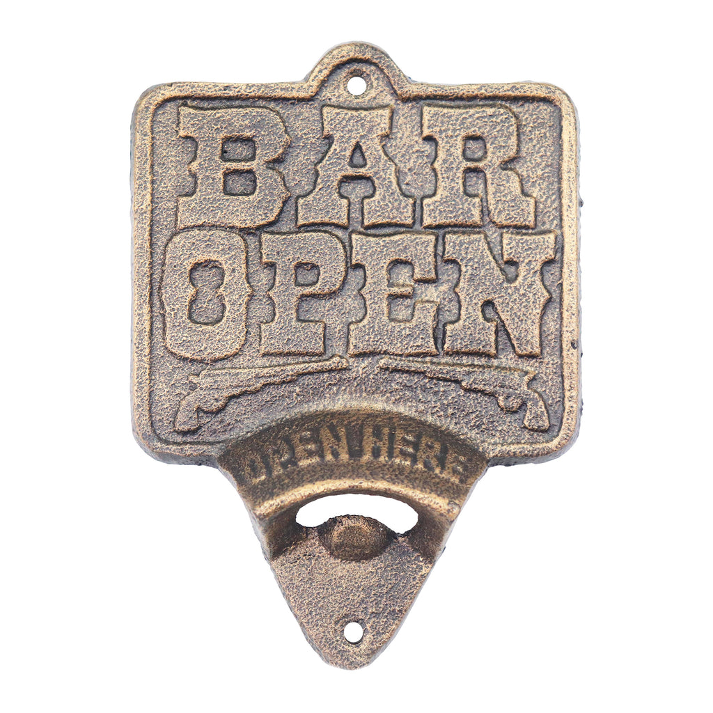 Image of: Cast Iron Wall Mounted Bottle Opener Country Smart