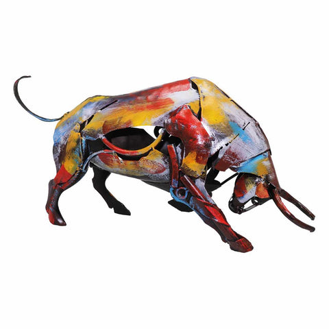The Charging Bull Iron Sculpture