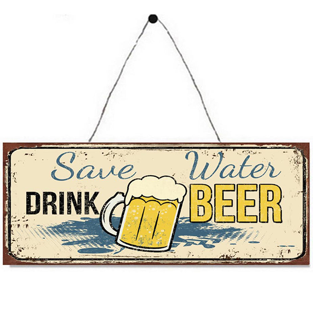 Save Water, Drink Beer Metal Plaque