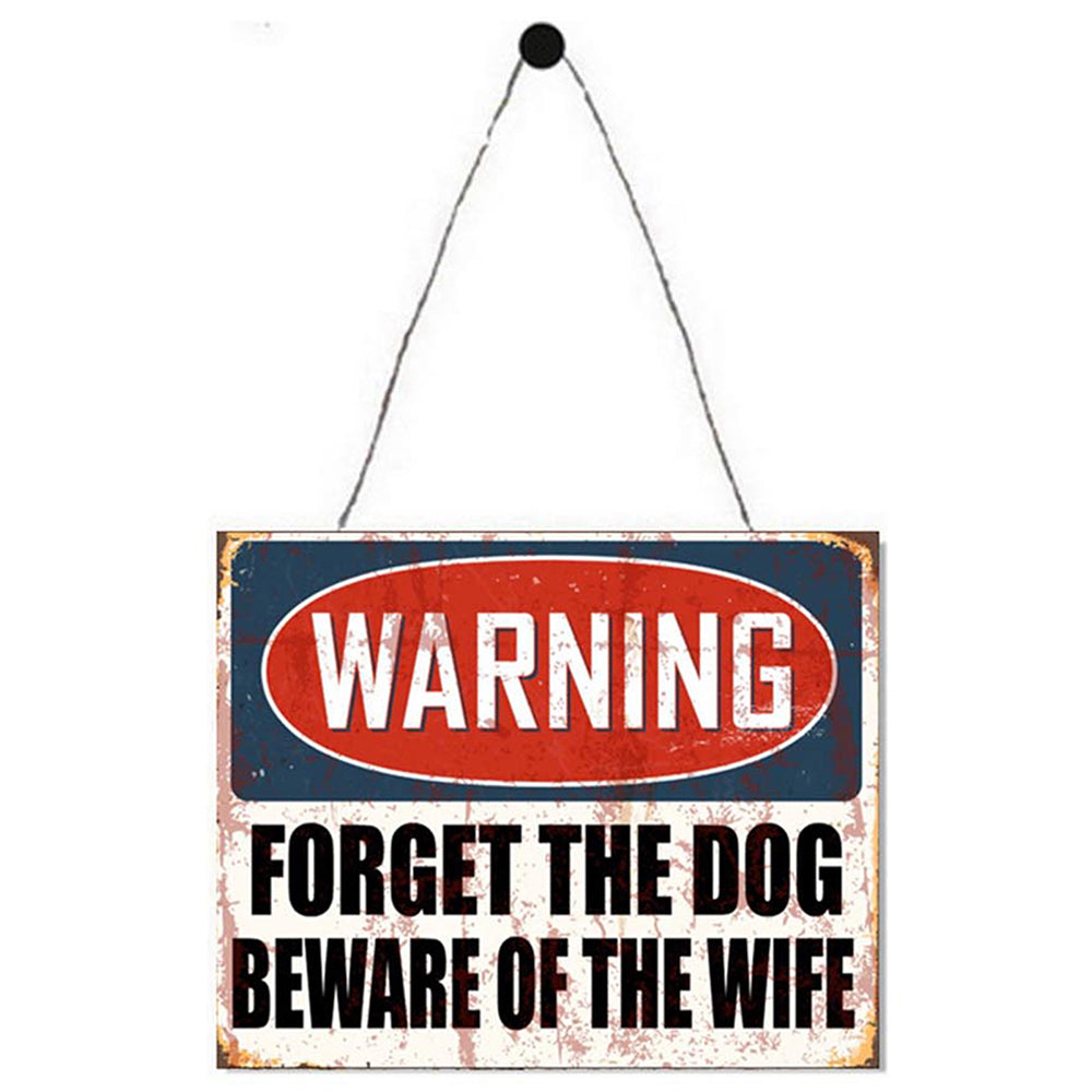 Warning Beware Of The Wife Metal Plaque