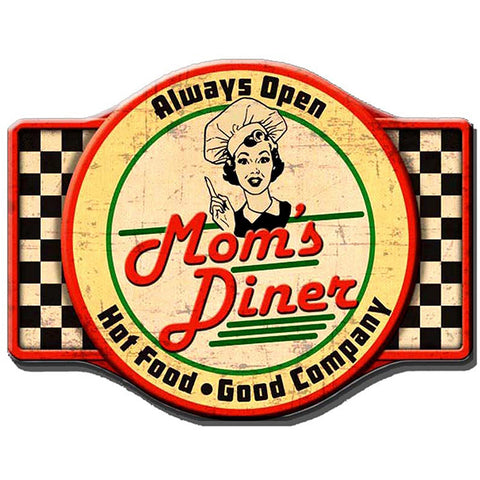 Mum's Diner Metal Plaque