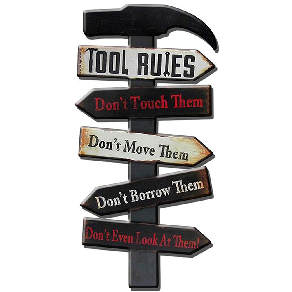 Tool Rules Metal Plaque
