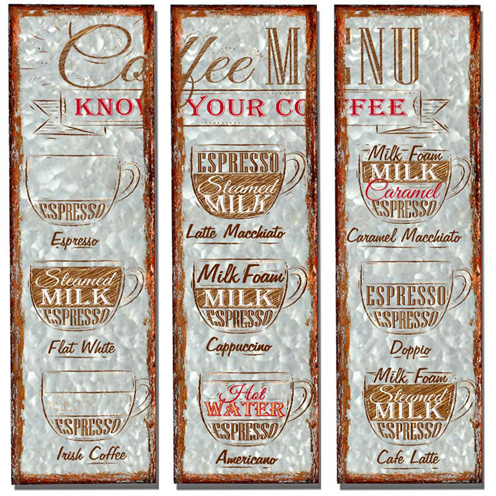 Set of 3 Coffee Plaques