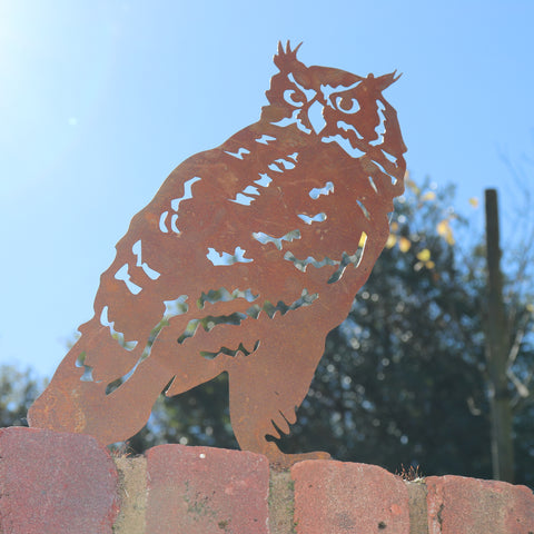 Owl Garden Silhouette with Fixing Plate