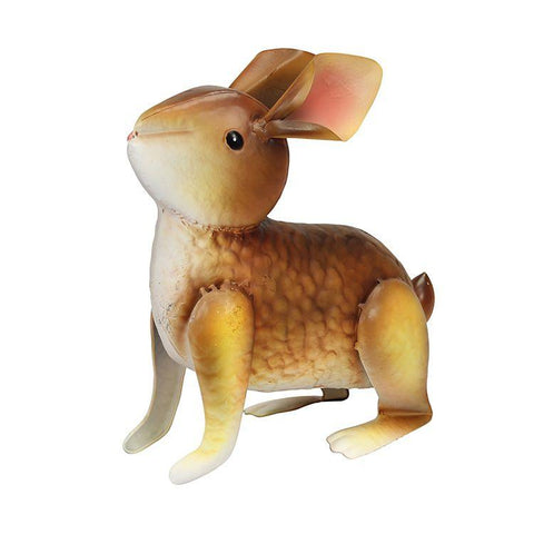 brown metal rabbit