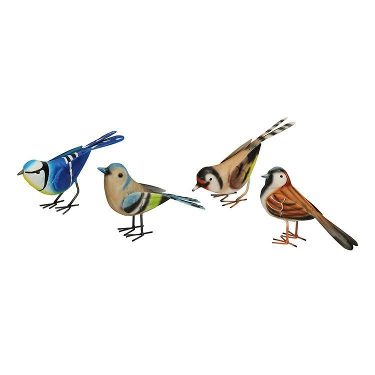 set of 4 british birds