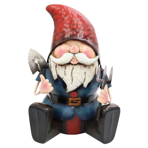 Metal Gnome Ready to Dig
