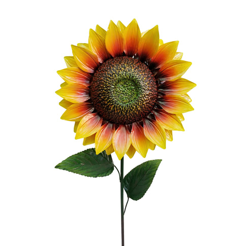 1.2m Giant Metal Sunflower Garden Stake