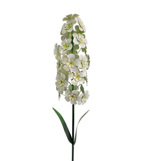 1.2m Giant Metal Hyacinth Garden Stake - White