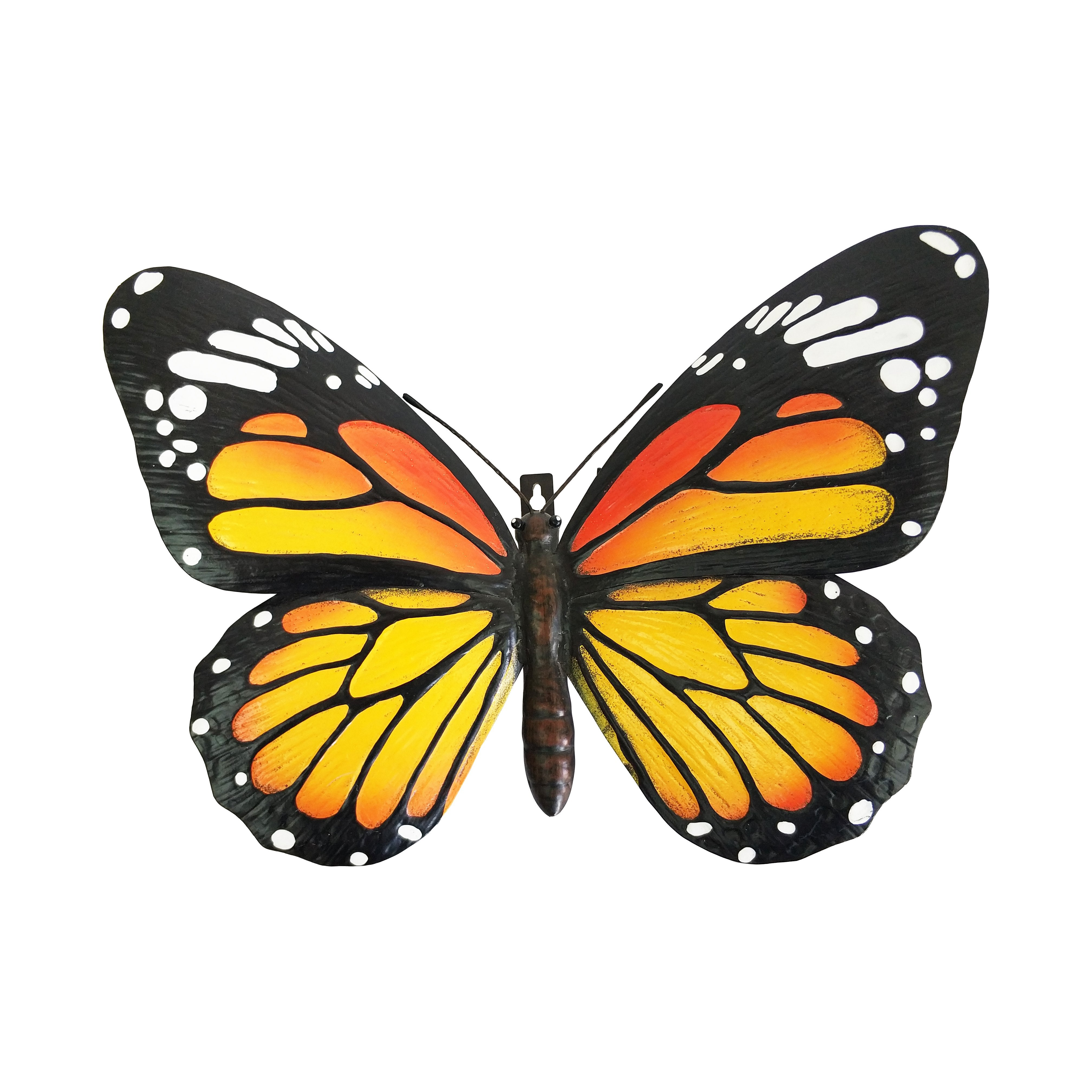 Giant Metal 3D Orange Butterfly - Home & Garden at Country Smart