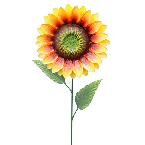83cm Medium Metal Sunflower Garden Stake