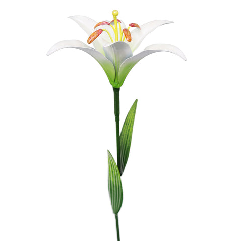 83cm Medium Metal Lily Garden Stake