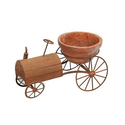 Metal Tractor Flower Pot