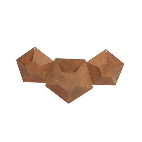 3 Pot Hexagonal Planter