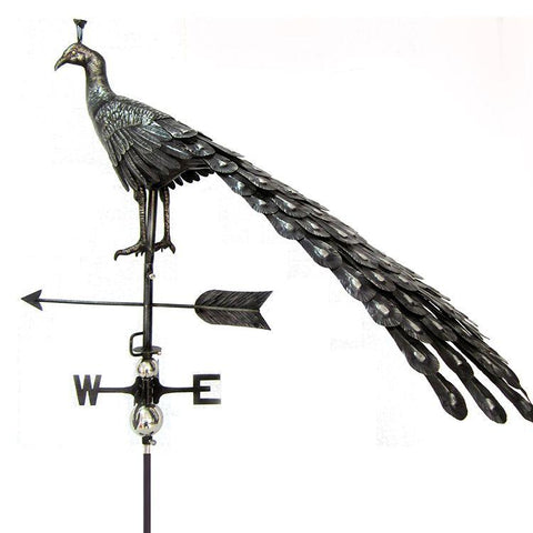 3D Peacock Weathervane with Garden Stake