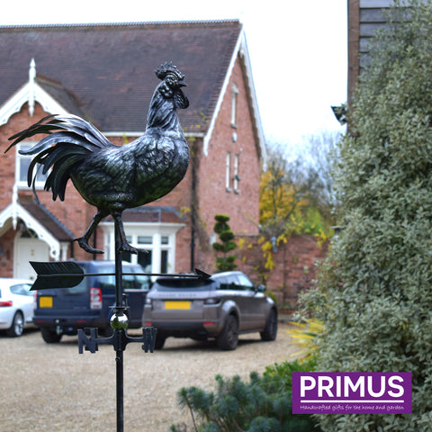 3D Rooster Weathervane with Garden Stake