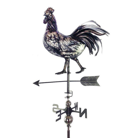 3D Simple Rooster Weathervane with Garden Stake