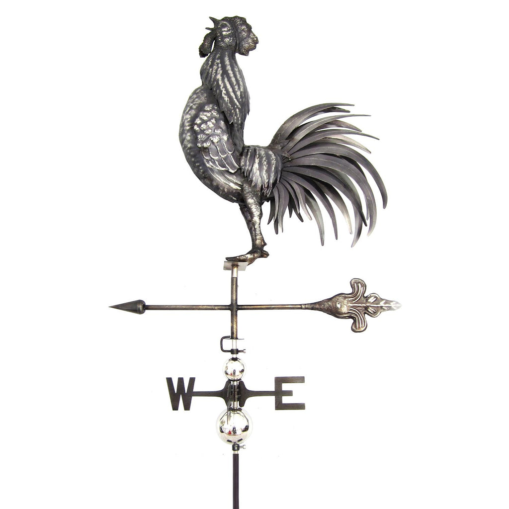 3D Cock Crowing Weathervane with Garden Stake