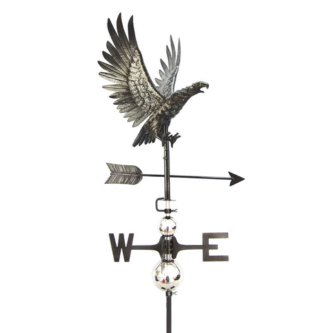 3D Eagle in Flight Weathervane with Garden Stake