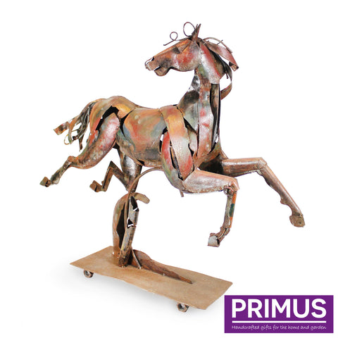 The Running Horse Iron Sculpture
